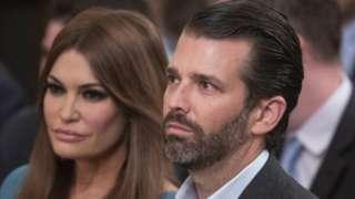 Donald Trump Jr ve kız arkdaşı Kimberly Guilfoyle