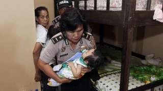 Indonesian police raiding orphanage near Jakarta over alleged abuse, 24 Feb 14