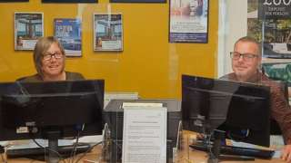 Jason and wife Jackie at Bromyard Travel Services