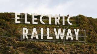 Electric Railway sign in Douglas