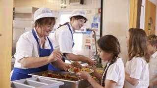 Catering workers in school