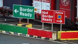 Signage at Holyhead port