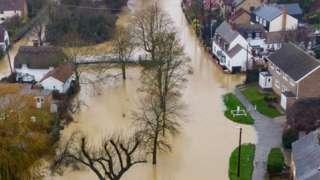 Flooding in Alconbury Weston