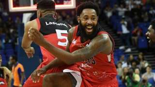 Leicester Riders celebrated their treble at London's O2 Arena
