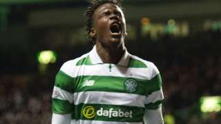 Dedryk Boyata celebrates his Celtic goal