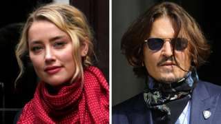 Amber Heard and Johnny Depp arrive at the High Court in London