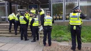 Police in Huddersfield