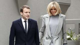 امانوئل مکرون رئیسجمهور فرانسه و همسرش بریجیت مکرون