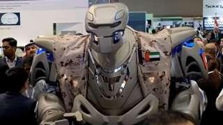 King of Bahrain robot bodyguard