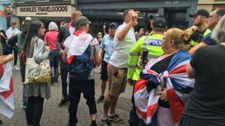 The protest in Worcester on Saturday