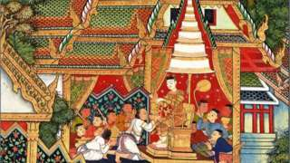 Mural Painting in the ubosot of Wat Amphawan