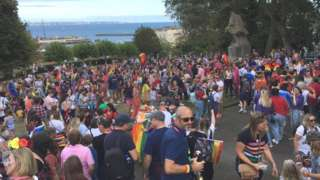 Crowds at Guernsey Pride