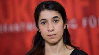 Nadia Murad in Hanover, Germany (2016 file picture)