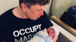 Elon Musk y su hijo