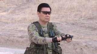 'Turkmenator' loads his weapon