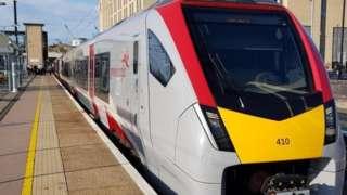 Train in Cambridge