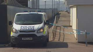 Police at Helensburgh pier