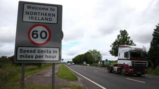 Sign at the Northern Ireland border