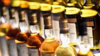 bottles of whisky