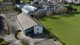 Aerial shot of Guernsey's sixth form centre