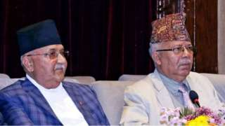 ओली र माधव नेपाल