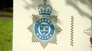 Sussex Police HQ sign