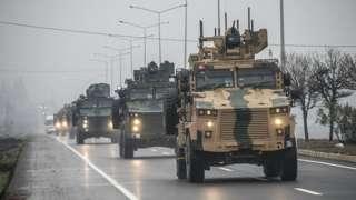 Türk ordusuna ait konvoy İdlib'de