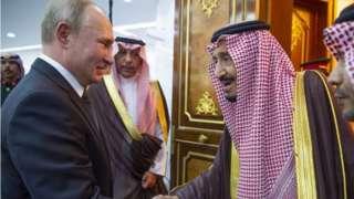 Russian President Vladimir Putin meets Saudi King Salman bin Abdulaziz al-Saud (14/10/19)