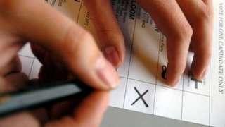 Person voting - generic image