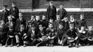 12th September 1911: London schoolboys on strike at Shoreditch.