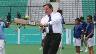 David Cameron batting