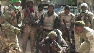 A group of Nigerian soldiers