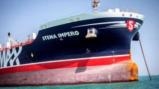 File photo showing British-flagged oil tanker Stena Impero at anchor off Bandar Abbas, Iran (22 August 2019)