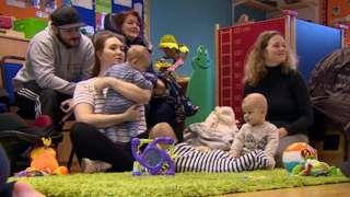Parents and children at children's centre