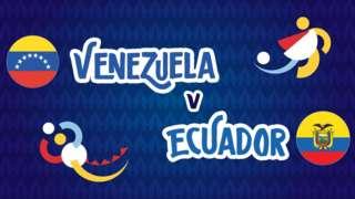 Venezuela v Ecuador badge graphic