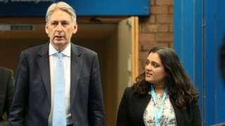 Philip Hammond and Sonia Khan