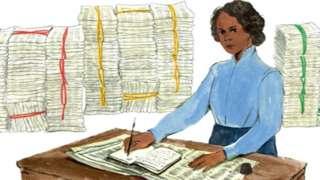 Google doodle dey celebrate di 197 year birthday of Mary Ann Shadd Cary,