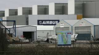 The Airbus plant in Broughton