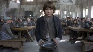 Oliver (WILLIAM MILLER) in the Mudfog workhouse