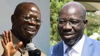 Adams Oshimhole and Godwin Obaseki