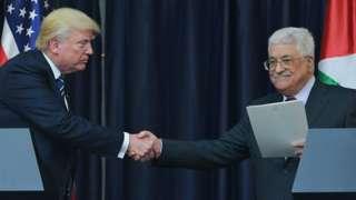 Donald Trump and Mahmoud Abbas - 23 May