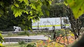 Royal Navy bomb disposal vehicle on the scene