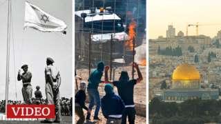 Montaje sobre Israel y palestinos