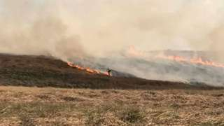 Fire on Ilkley Moor