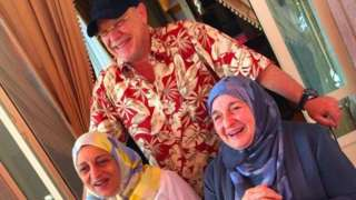 Raja Bashir Hashim (right), Sana Mohammed Bin Laden (left) and Zuhair Hashim (centre) died in the crash