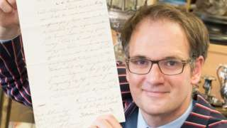 Charles Hanson with letter