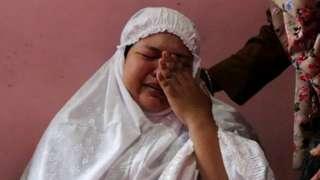 Alif's mother Dewi Surya , baby's body