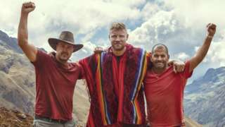 Paddy McGuinness, Andrew Flintoff and Chris Harris