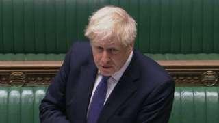 Boris Johnson at PMQs on 21 October