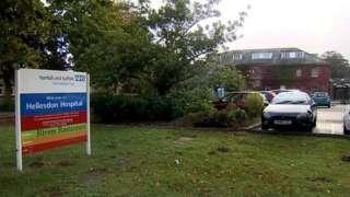 Exterior of a hospital building